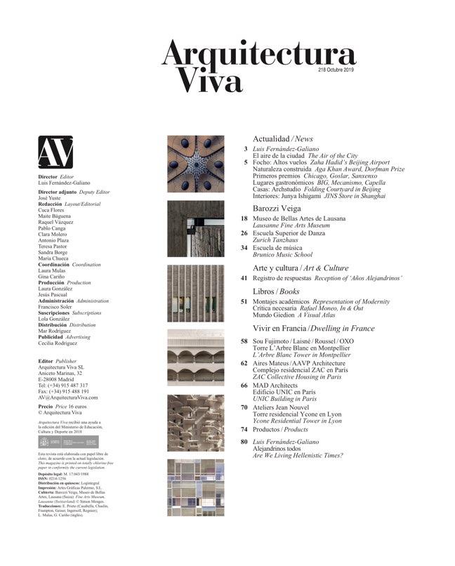 Arquitectura Viva 218 BAROZZI VEIGA - Preview 1