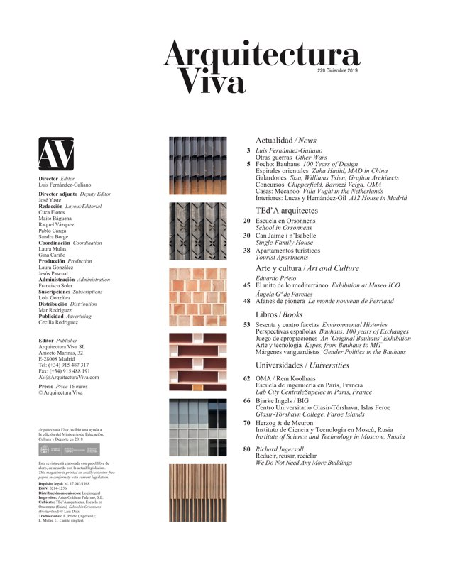 Arquitectura Viva 220 TEd'A arquitectes - Preview 1