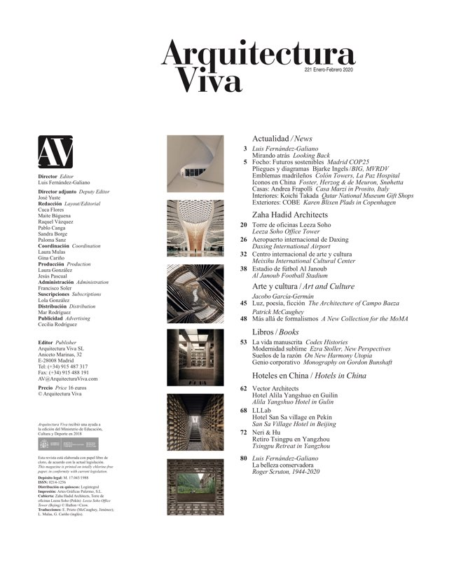 Arquitectura Viva 221 ZAHA HADID Architects - Preview 1