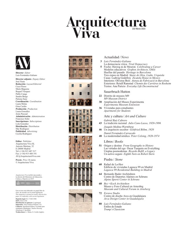 Arquitectura Viva 222 SAUERBRUCH HUTTON - Preview 1