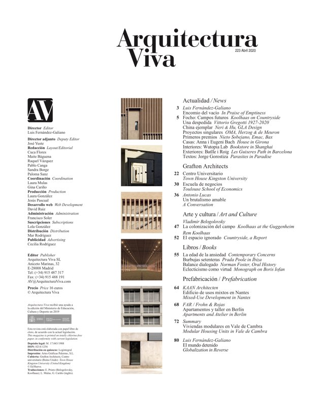 Arquitectura Viva 223 Grafton Architects - Preview 1