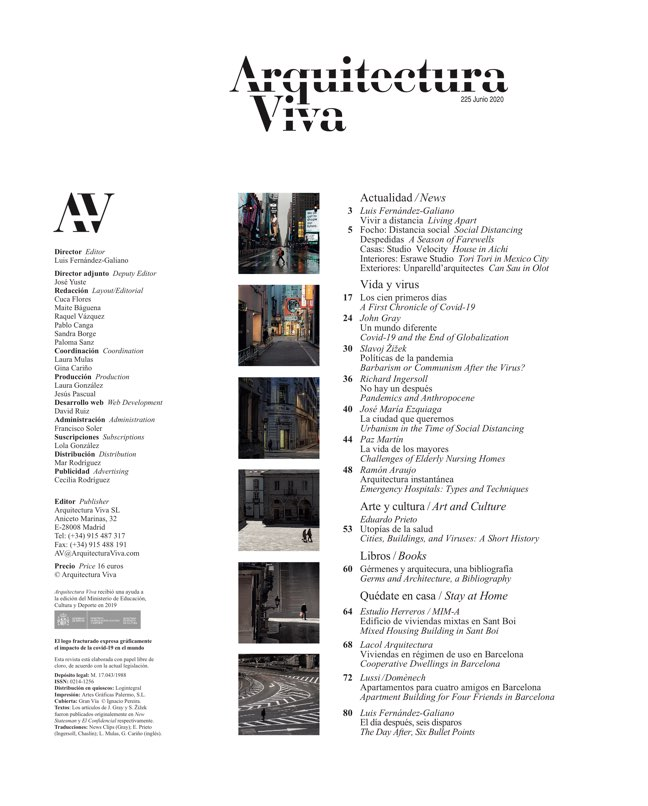 Arquitectura Viva 225 Covid-19 - Preview 1