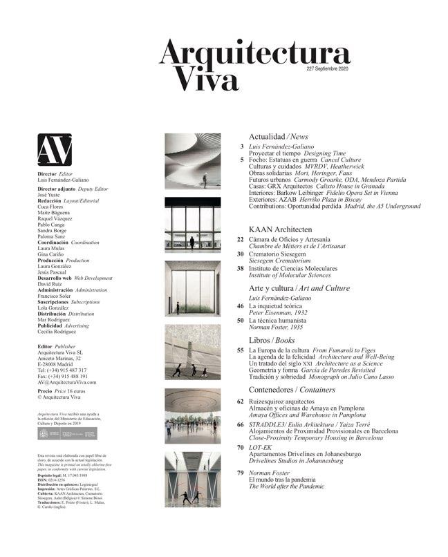 Arquitectura Viva 227 KAAN Architecten - Preview 1
