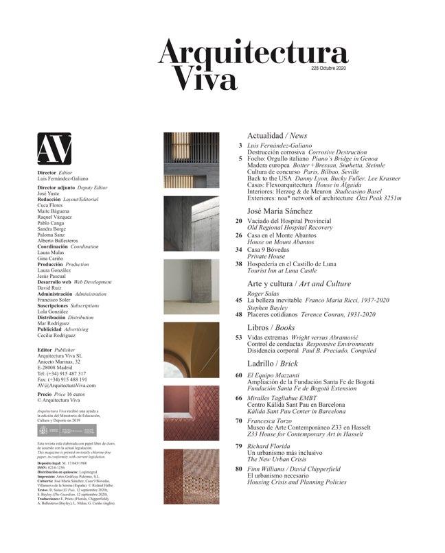 Arquitectura Viva 228 José María Sánchez - Preview 1