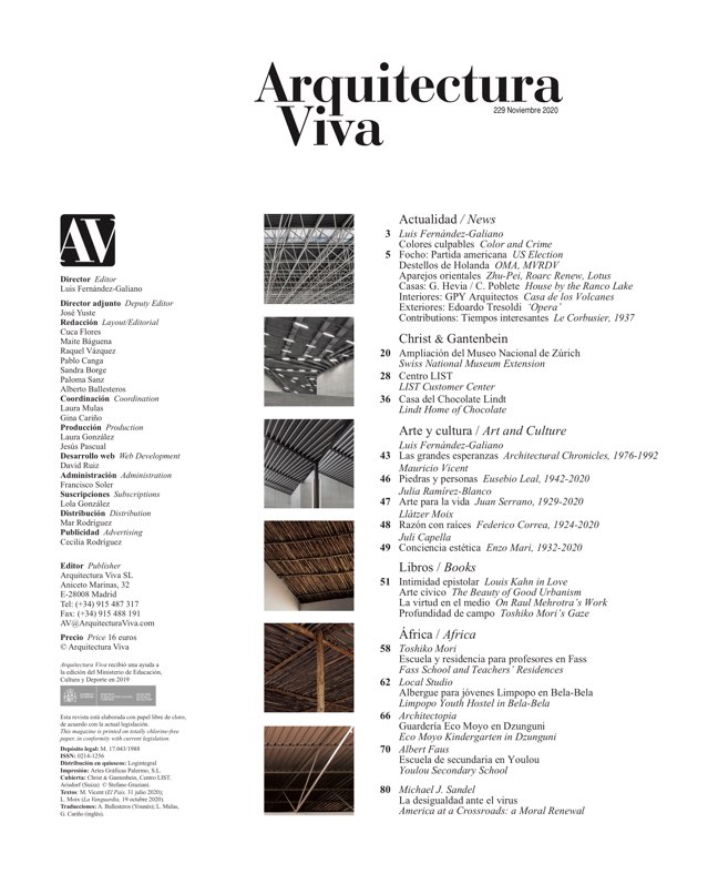 Arquitectura Viva 229 Christ & Gantenbein - Preview 1
