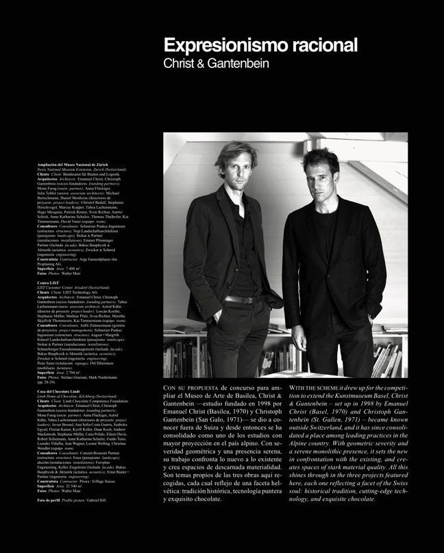 Arquitectura Viva 229 Christ & Gantenbein - Preview 3