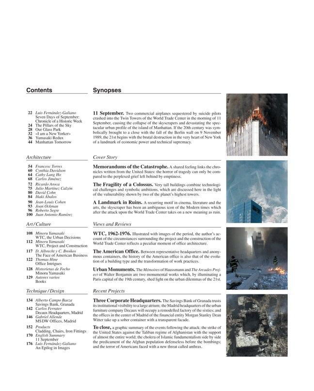 Arquitectura Viva 79-80 11 DE SEPTIEMBRE - Preview 1
