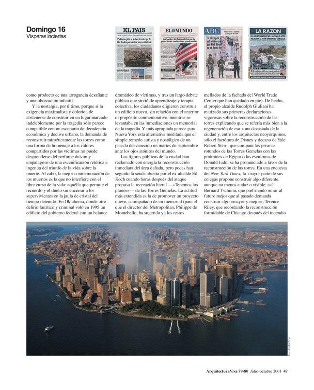 Arquitectura Viva 79-80 11 DE SEPTIEMBRE - Preview 3