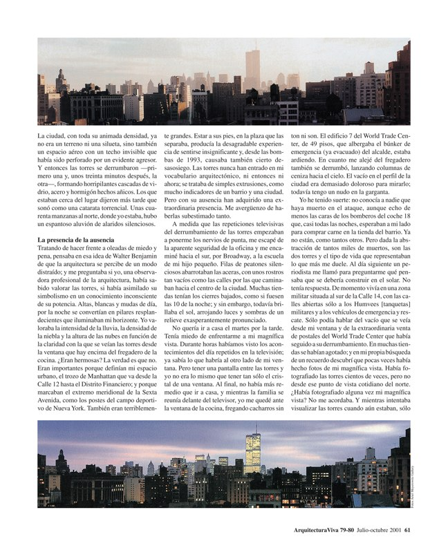 Arquitectura Viva 79-80 11 DE SEPTIEMBRE - Preview 6