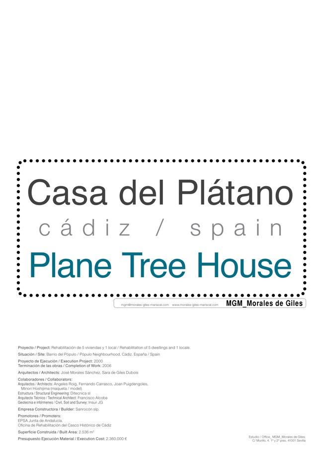 Housing in El Populo. Casa del Plátano – Book / Plane Tree House, MGM Morales de Giles - Preview 1