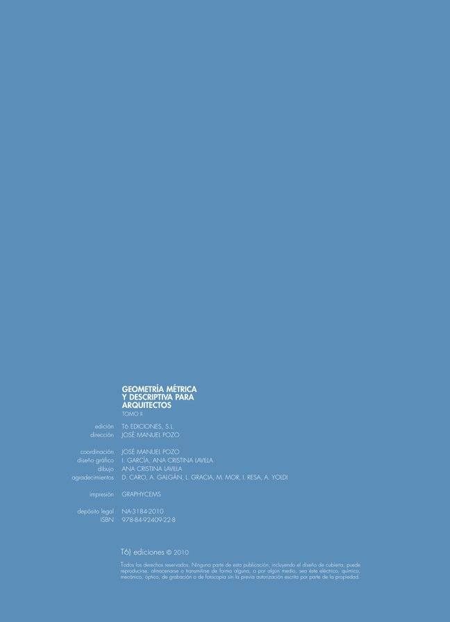Geometría Métrica y Descriptiva para arquitectos TOMO II - Preview 1