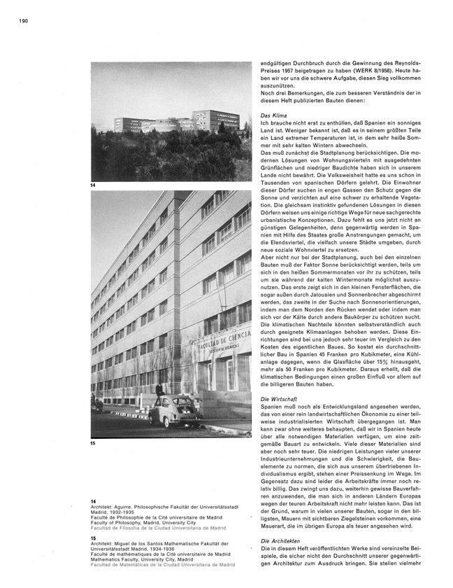 WERK 6/62 UN RETRATO DE ESPAÑA (SPANISCHE ARCHITEKTUR UND KUNST) - Preview 10