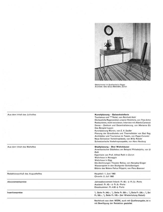 WERK 6/62 UN RETRATO DE ESPAÑA (SPANISCHE ARCHITEKTUR UND KUNST) - Preview 2