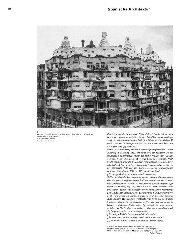 WERK 6/62 UN RETRATO DE ESPAÑA (SPANISCHE ARCHITEKTUR UND KUNST) - Preview 5
