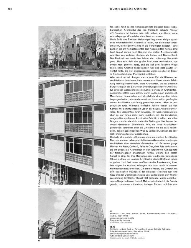 WERK 6/62 UN RETRATO DE ESPAÑA (SPANISCHE ARCHITEKTUR UND KUNST) - Preview 9