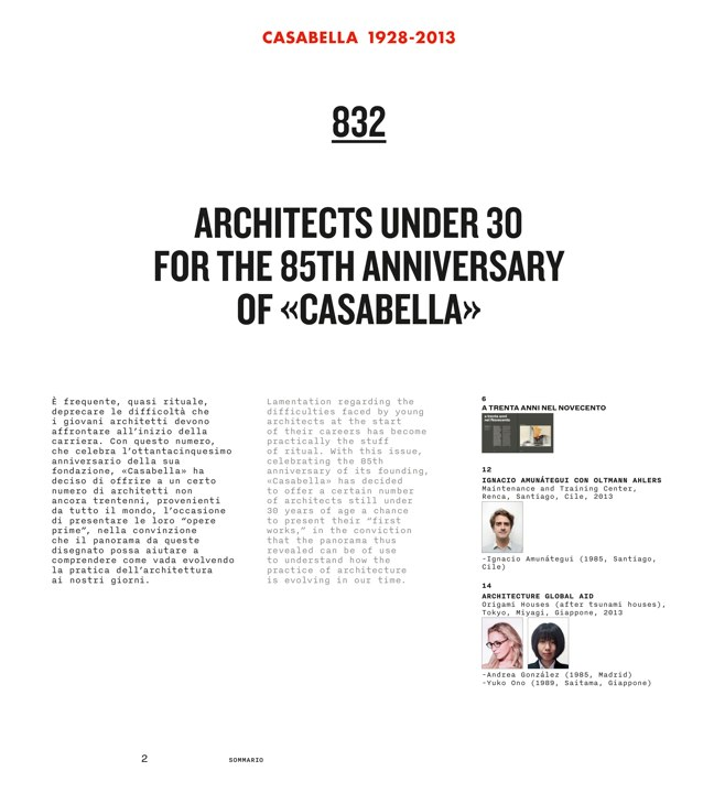 CASABELLA 832 ARCHITECTS UNDER 30 - Preview 7