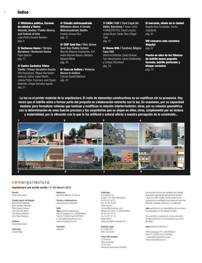 CA 49 I CONarquitectura 49. ARQUITECTURA CON ARCILLA COCIDA - Preview 1