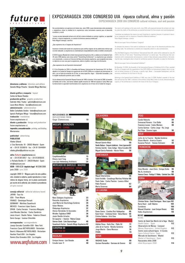 FUTURE ARQUITECTURAS #12/13  CONCURSOS COMPETITIONS - Preview 2