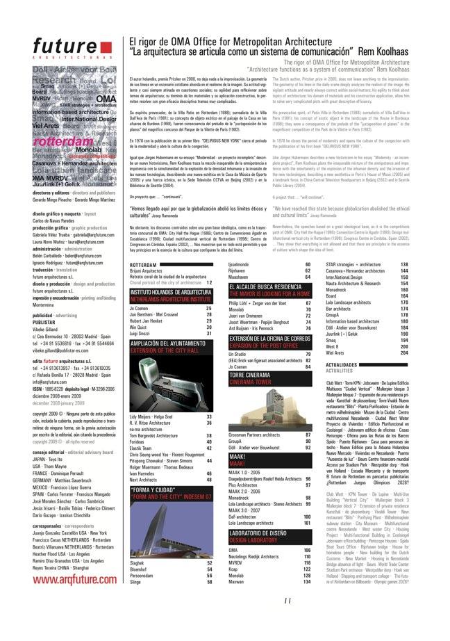 FUTURE ARQUITECTURAS #15 ROTTERDAM - Preview 1