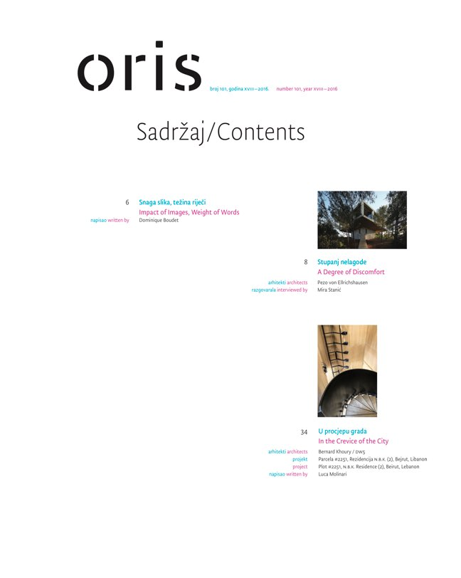 ORIS 101 MAGAZINE FOR ARCHITECTURE AND CULTURE OF LIVING - Preview 1
