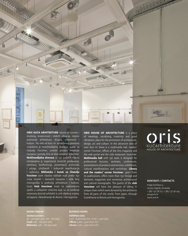 ORIS 103 MAGAZINE FOR ARCHITECTURE AND CULTURE OF LIVING - Preview 1