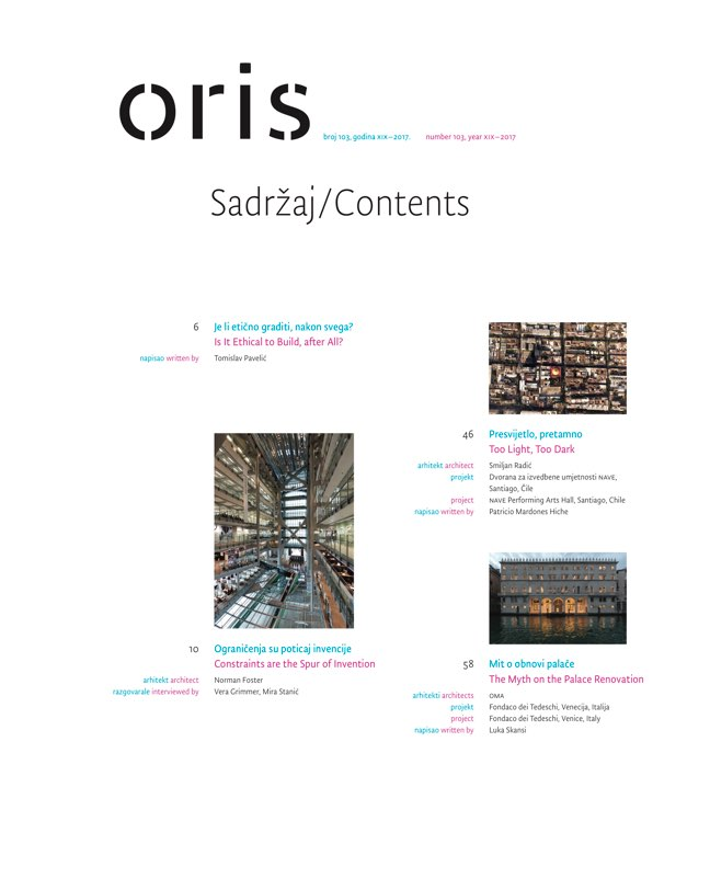 ORIS 103 MAGAZINE FOR ARCHITECTURE AND CULTURE OF LIVING - Preview 2
