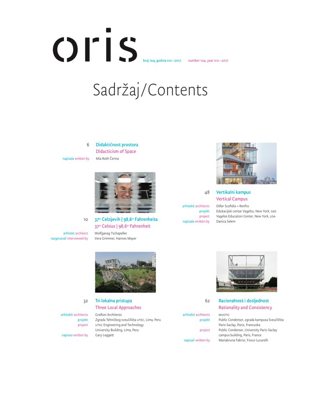 ORIS 104 MAGAZINE FOR ARCHITECTURE AND CULTURE OF LIVING - Preview 1