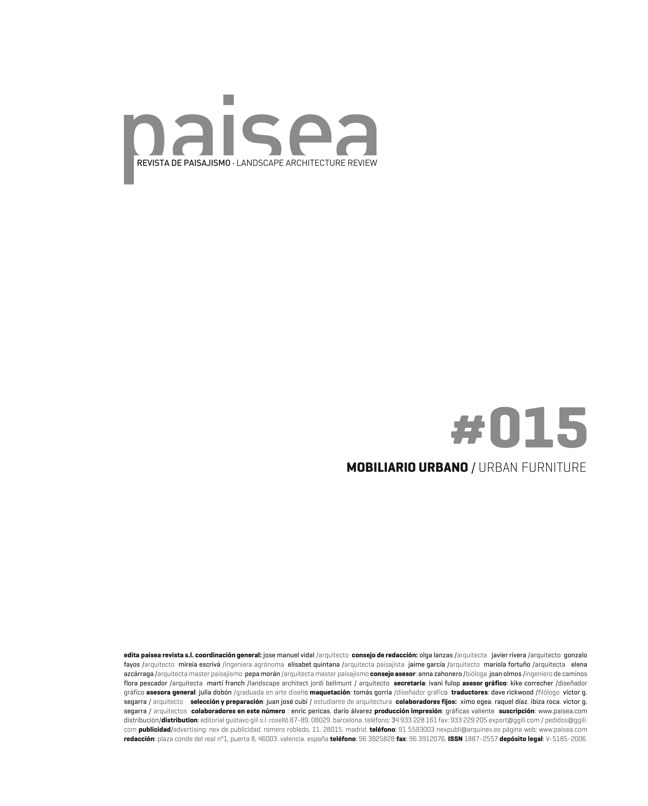 paisea 015 MOBILIARIO URBANO / URBAN FURNITURE - Preview 1