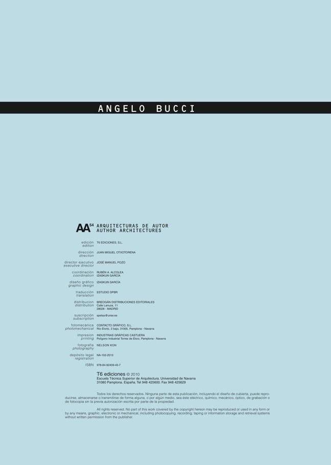 AA54 Arquitecturas de Autor ANGELO BUCCI - Preview 1