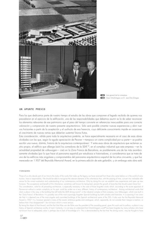 AACC 02 COMEDORES DE LA SEAT. Ortiz-Echagüe, Barbero y de la Joya - Preview 2