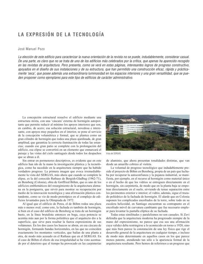 RE 33 Revista de Edificación EDIFICIO PARA LA CONSEJERÍA DE SALUD Y SERGAS - Preview 3