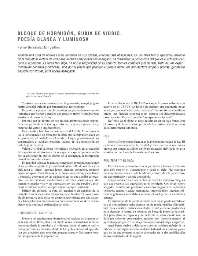RE 33 Revista de Edificación EDIFICIO PARA LA CONSEJERÍA DE SALUD Y SERGAS - Preview 4