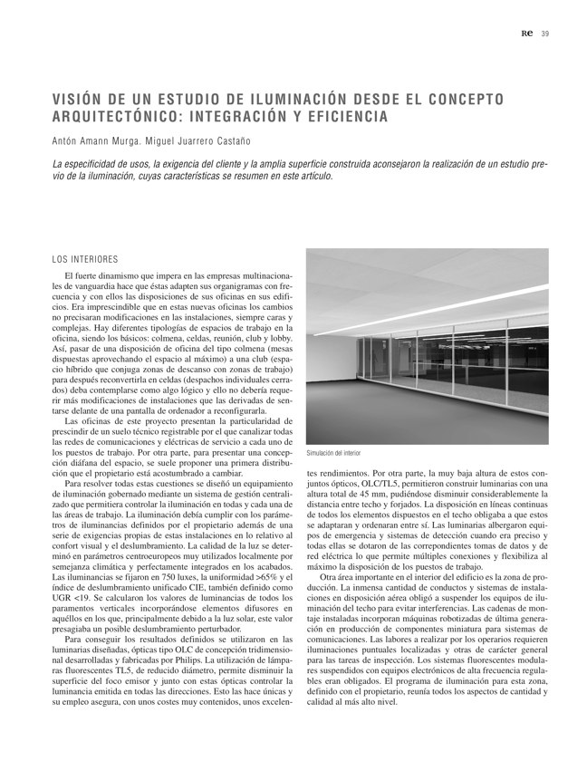 RE 34 Revista de Edificación BTC-ERICSSON. AH& ASOCIADOS - Preview 12