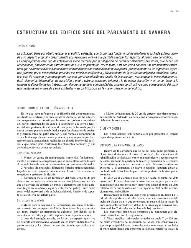 RE 35 Revista de Edificación PARLAMENTO DE NAVARRA - Preview 11