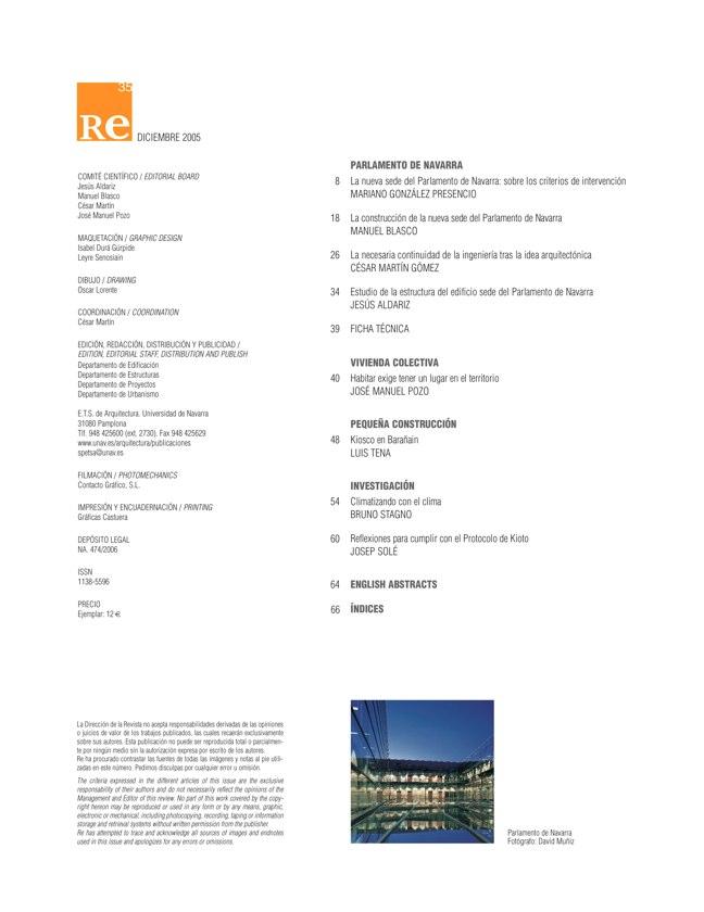 RE 35 Revista de Edificación PARLAMENTO DE NAVARRA - Preview 1