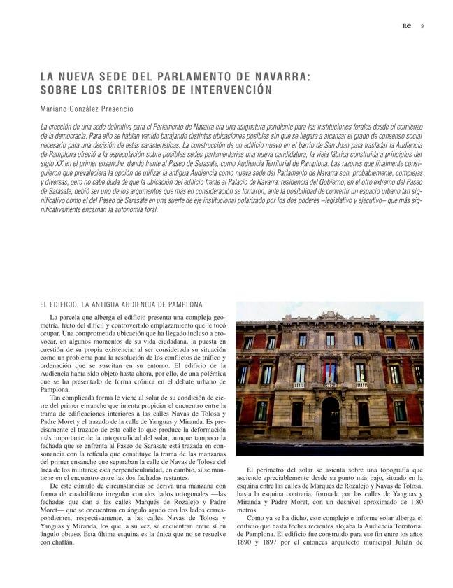 RE 35 Revista de Edificación PARLAMENTO DE NAVARRA - Preview 4