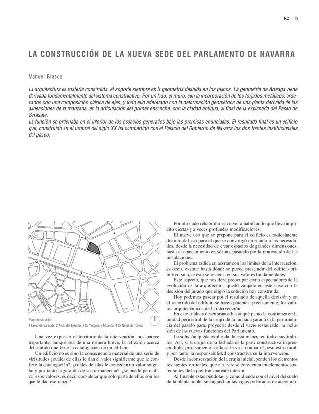 RE 35 Revista de Edificación PARLAMENTO DE NAVARRA - Preview 6