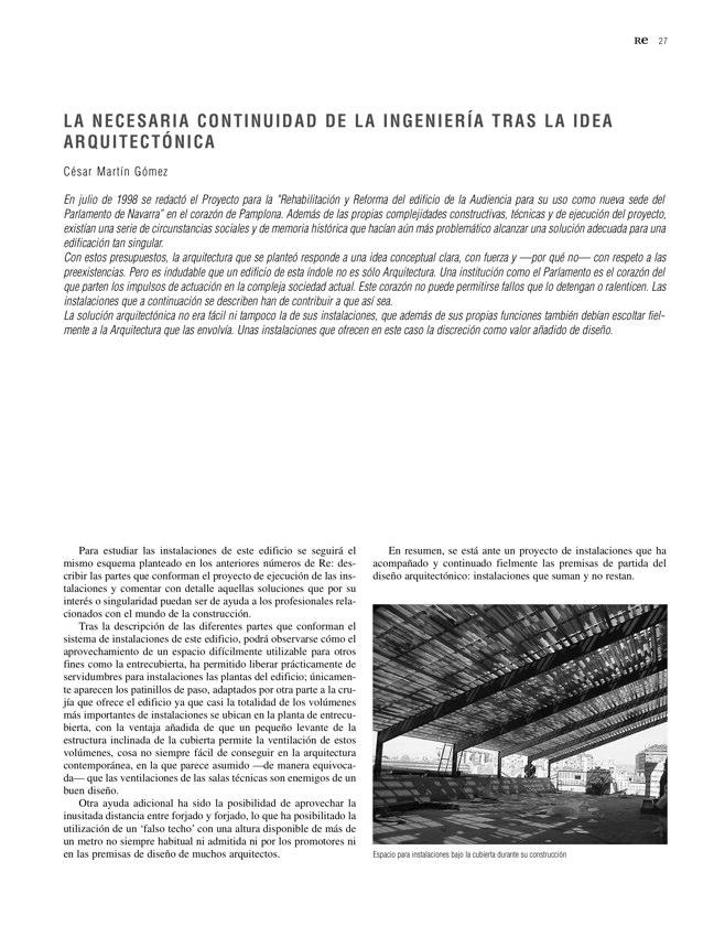 RE 35 Revista de Edificación PARLAMENTO DE NAVARRA - Preview 9