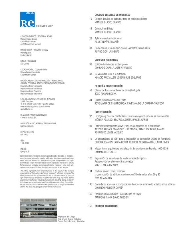 RE 36-37 I Revista de Edificación. Colegio Jesuitas de Indautxu - Preview 1