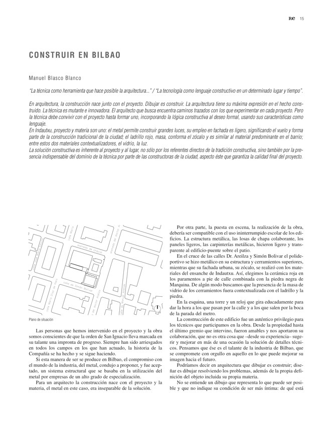 RE 36-37 I Revista de Edificación. Colegio Jesuitas de Indautxu - Preview 6