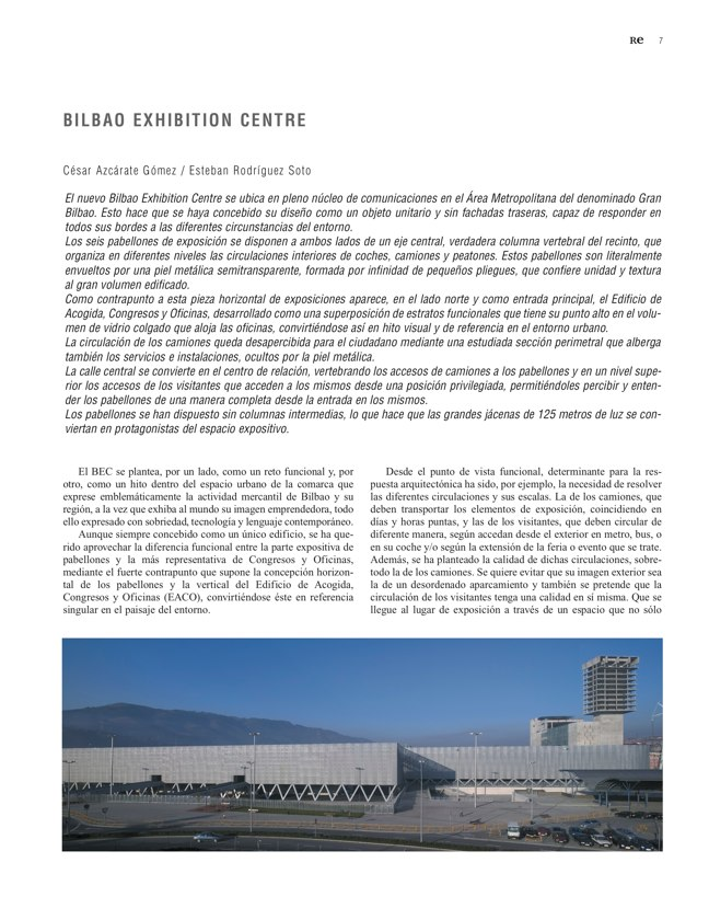 RE 38 Revista de Edificación BILBAO EXHIBITION CENTRE - Preview 3