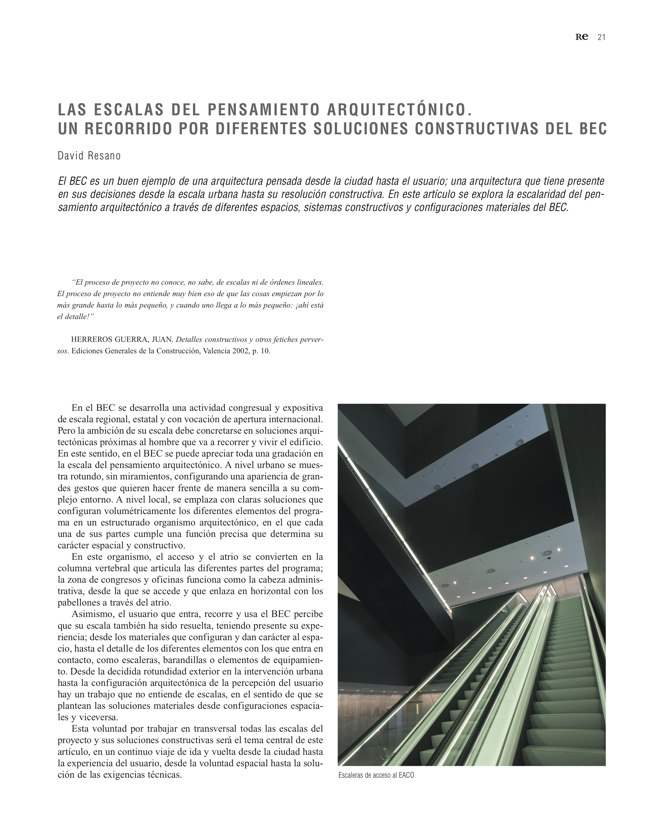 RE 38 Revista de Edificación BILBAO EXHIBITION CENTRE - Preview 7