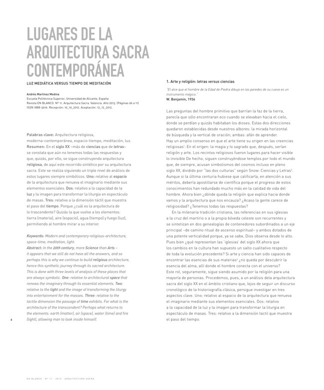 En Blanco 11 ARQUITECTURA SACRA I SACRED ARCHITECTURE - Preview 2