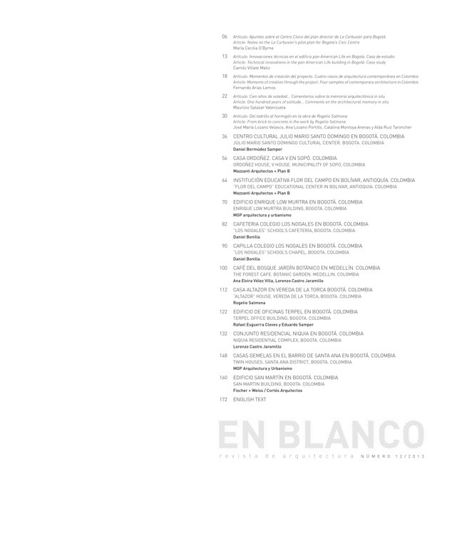 En Blanco 12 I Arquitectura Colombiana - Preview 1
