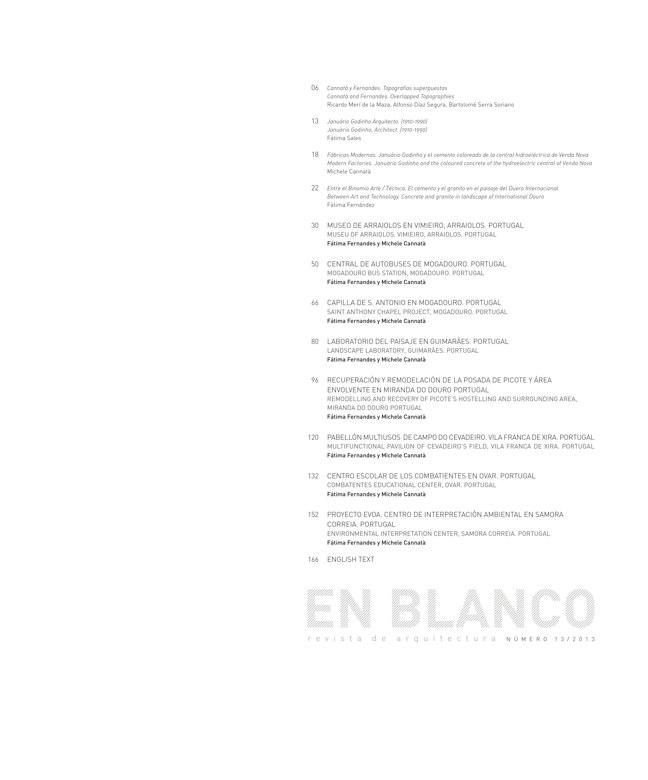 En Blanco 13 Cannatà & Fernandes. Arquitectura 2006-2013 - Preview 1