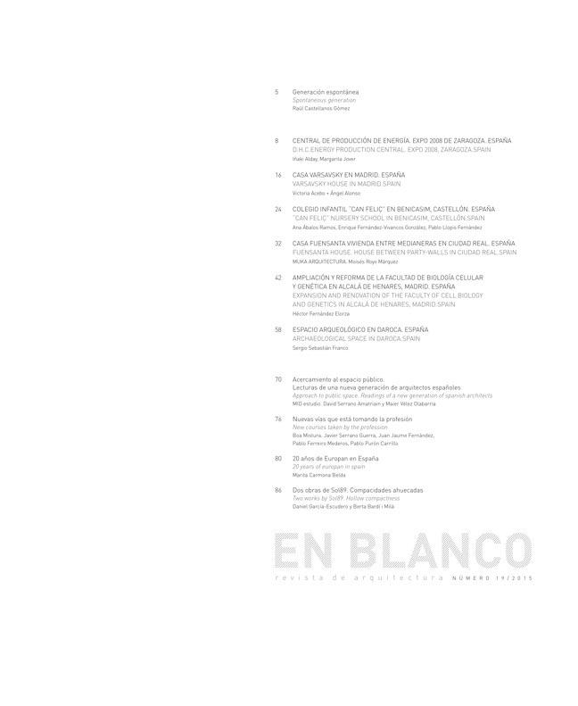 EN BLANCO 19 Nueva Arquitectura Española - Preview 1