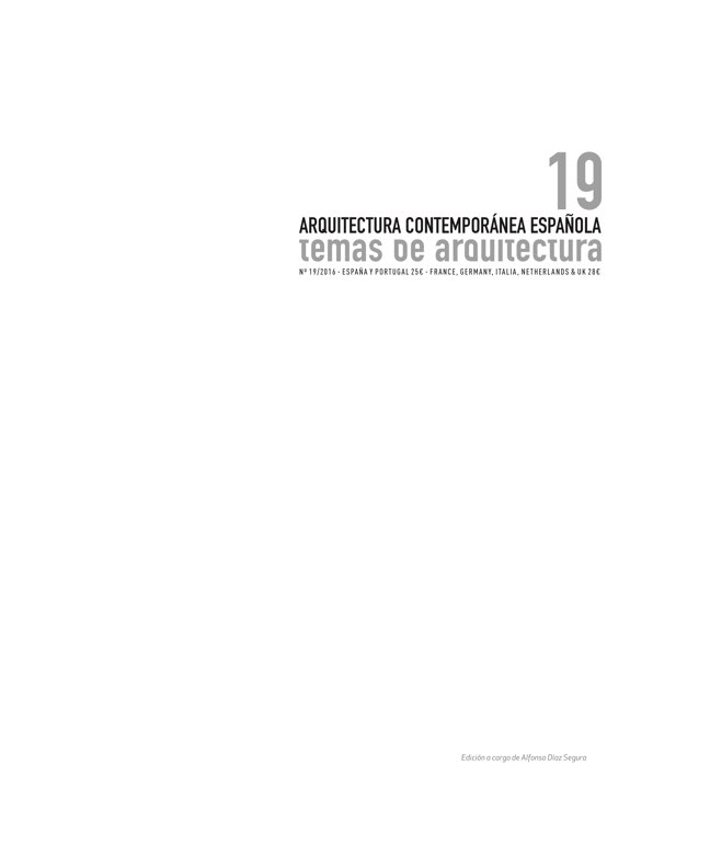 Temas de Arquitectura 19 Spanish Contemporary Architecture - Preview 1