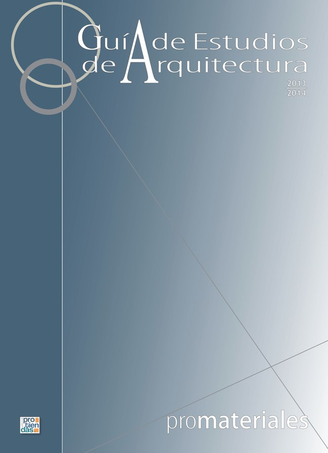 GUIA DE ESTUDIOS DE ARQUITECTURA 2013-2014