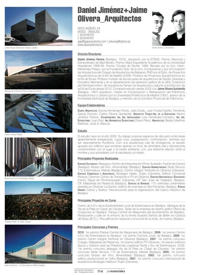 GUIA DE ESTUDIOS DE ARQUITECTURA 2013-2014 - Preview 23