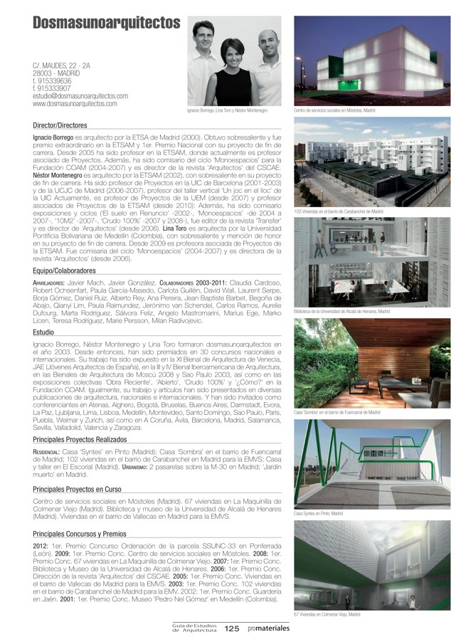 GUIA DE ESTUDIOS DE ARQUITECTURA 2013-2014 - Preview 25